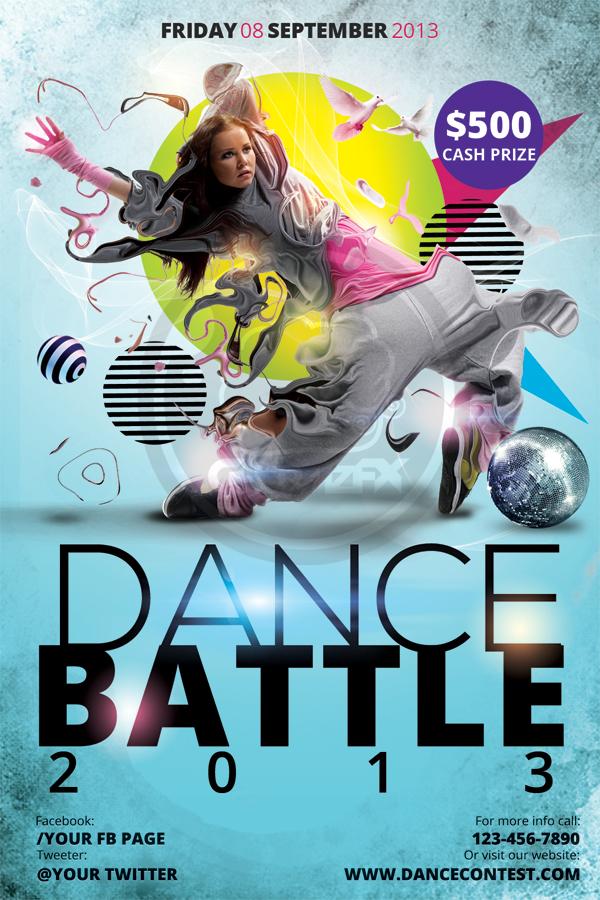 Dance Contest Flyer Template