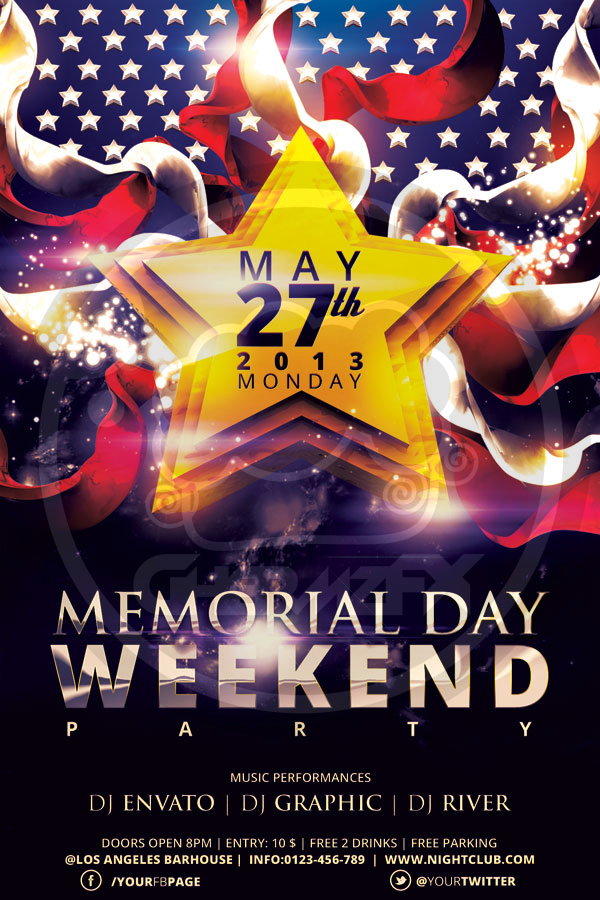 Memorial Day Flyer Template By Koza On Deviantart