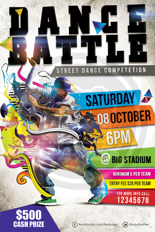 Dance Battle Flyer Template By Koza30 On Deviantart