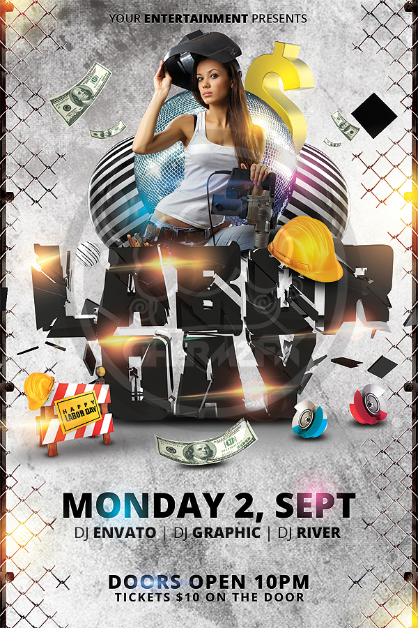 Labor Day Flyer Template By Koza30 On Deviantart