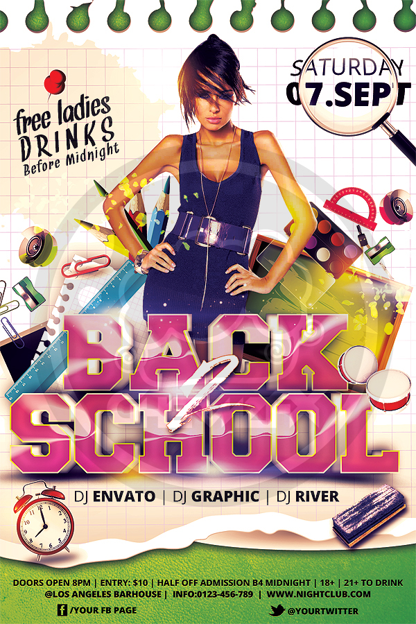 Back To School Flyer Template By Koza30 On Deviantart