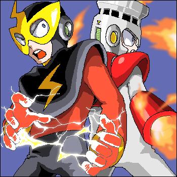 ELECMAN and FIREMAN by pain-v