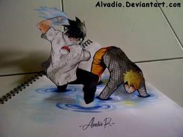 3D Sasuke Vs. Naruto by ALVADIO