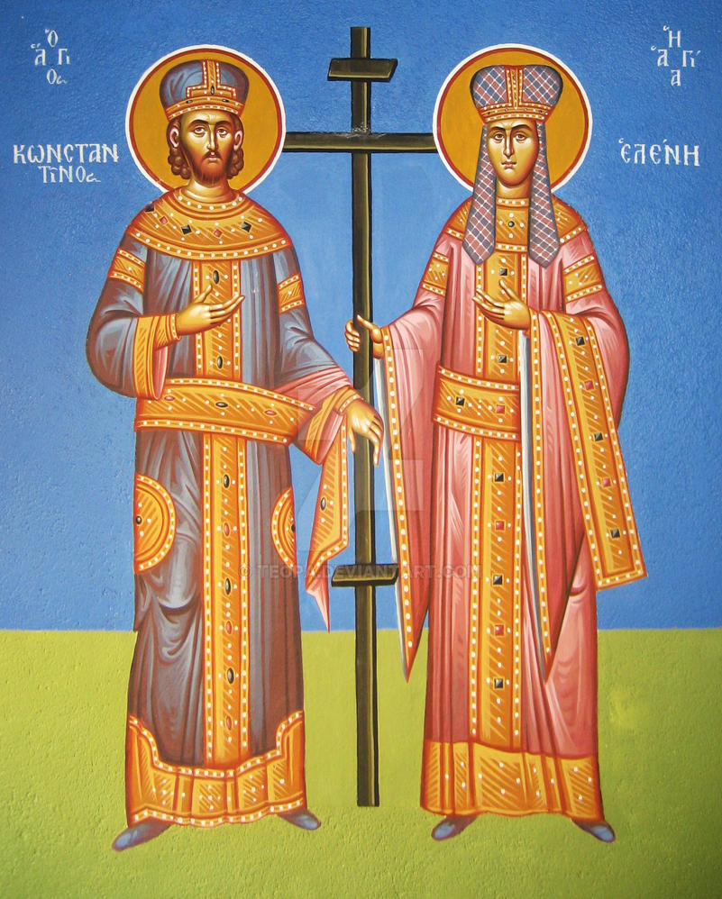 Saints Konstantinos and Helen by teopa