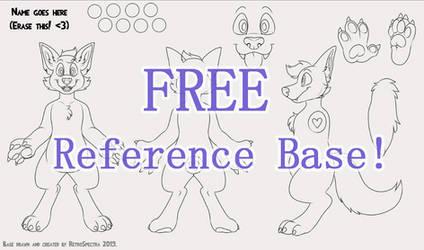 [F2U] FREE Furry Ref Sheet Base