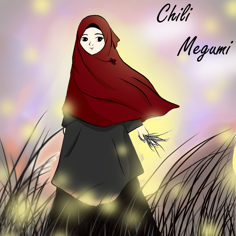 Gambar Kartun Muslimah Cantik Berhijab Animasi Bergerak Si