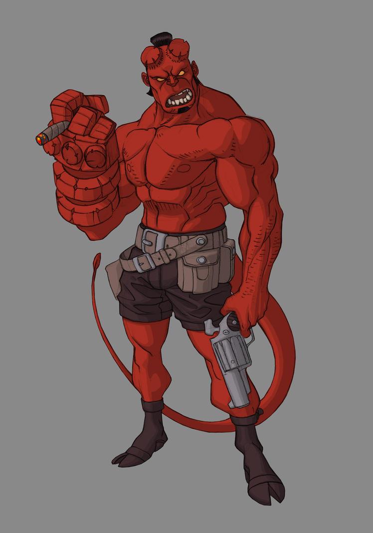 Hellboy by Rick-Lee