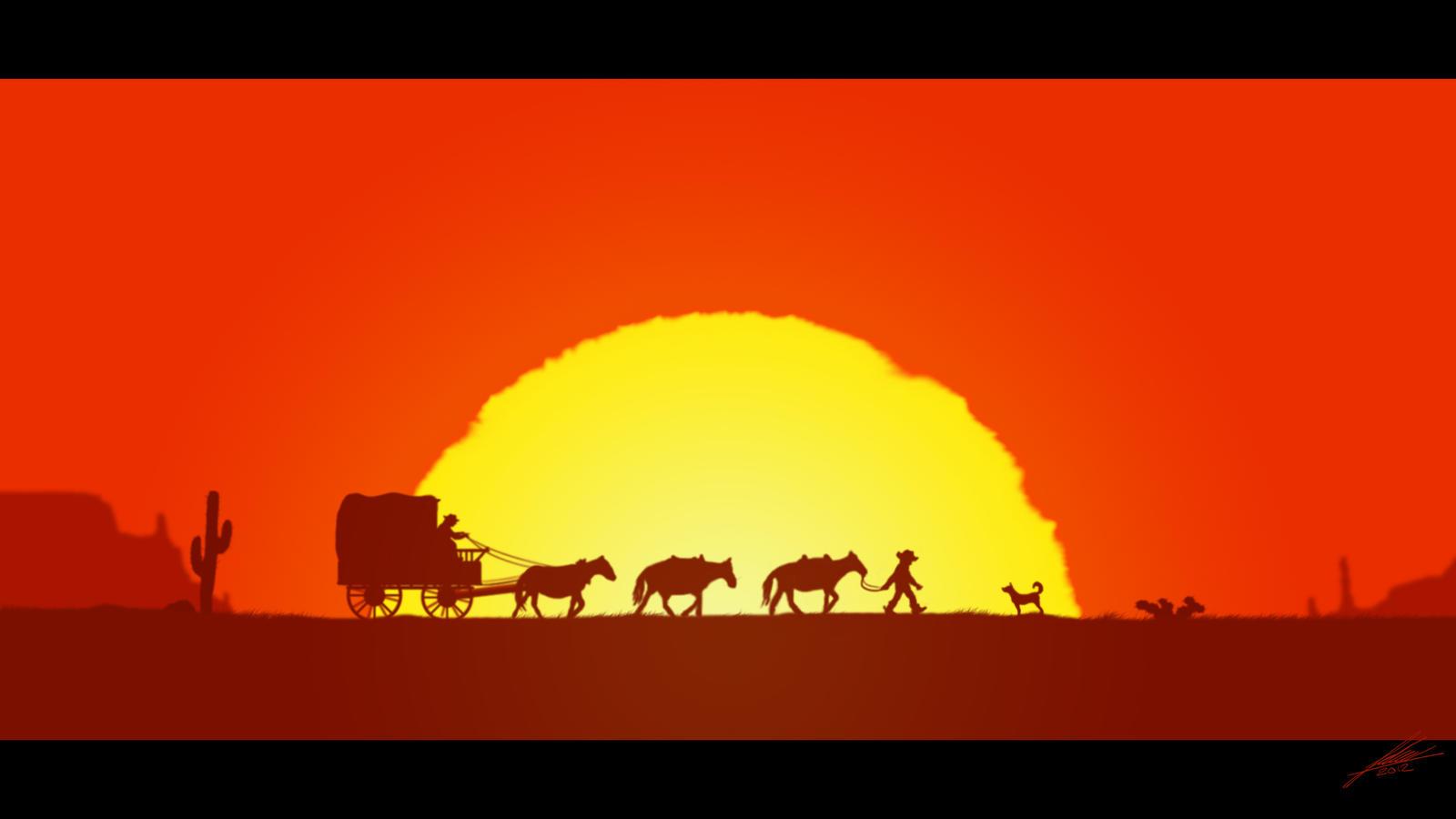 Western Sunset By Deamonen On Deviantart