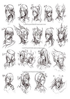 MMZ Valhalla Face Sketch Practice!