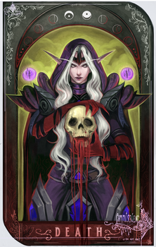 The Beauty in the Death - Tarot Card Commission