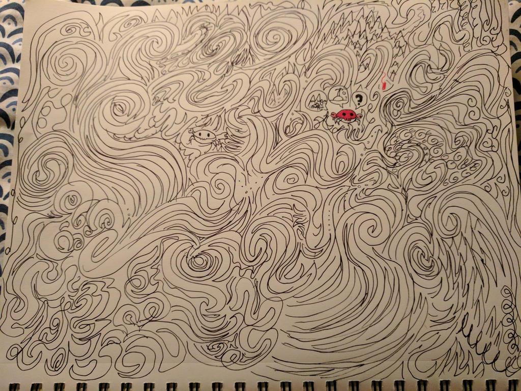something i doodled along to cygnus x-1 by skywardsquid