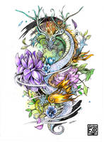 Dragon Tattoo Commission by Asfahani