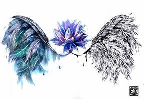 Tattoo commission: Quills by Asfahani