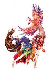 when the phoenix dances by Asfahani