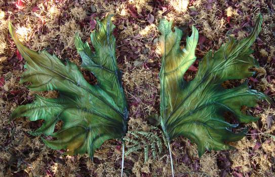 green leaf faery costume wings