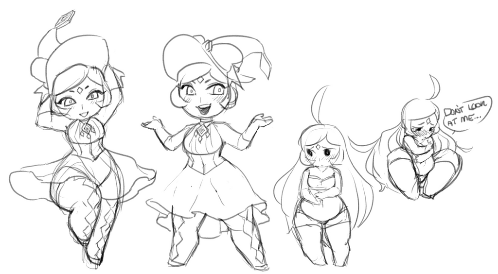 OS - June Chibi Sketches by 3712