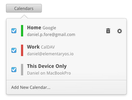 Calendars Popover Redesign