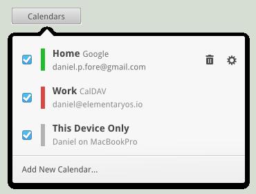 Calendars Popover Redesign