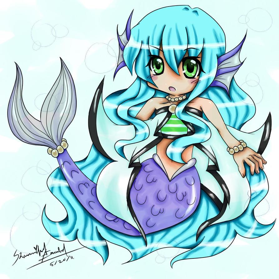 Chibi Anime Mermaid By Sharmander-chama On DeviantArt