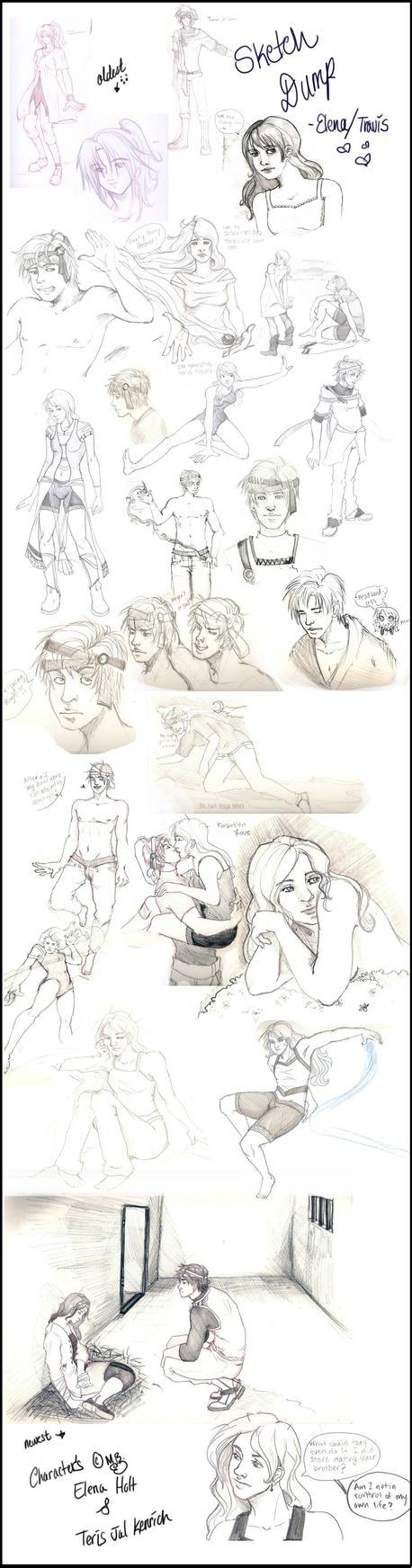 Elena Travis Sketch Dump by Sappu