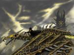 Flight of the Nazgul by Mizaar-me