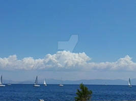 Sea and Cloud Shapes  over Myrtoon Pelagos -Greece