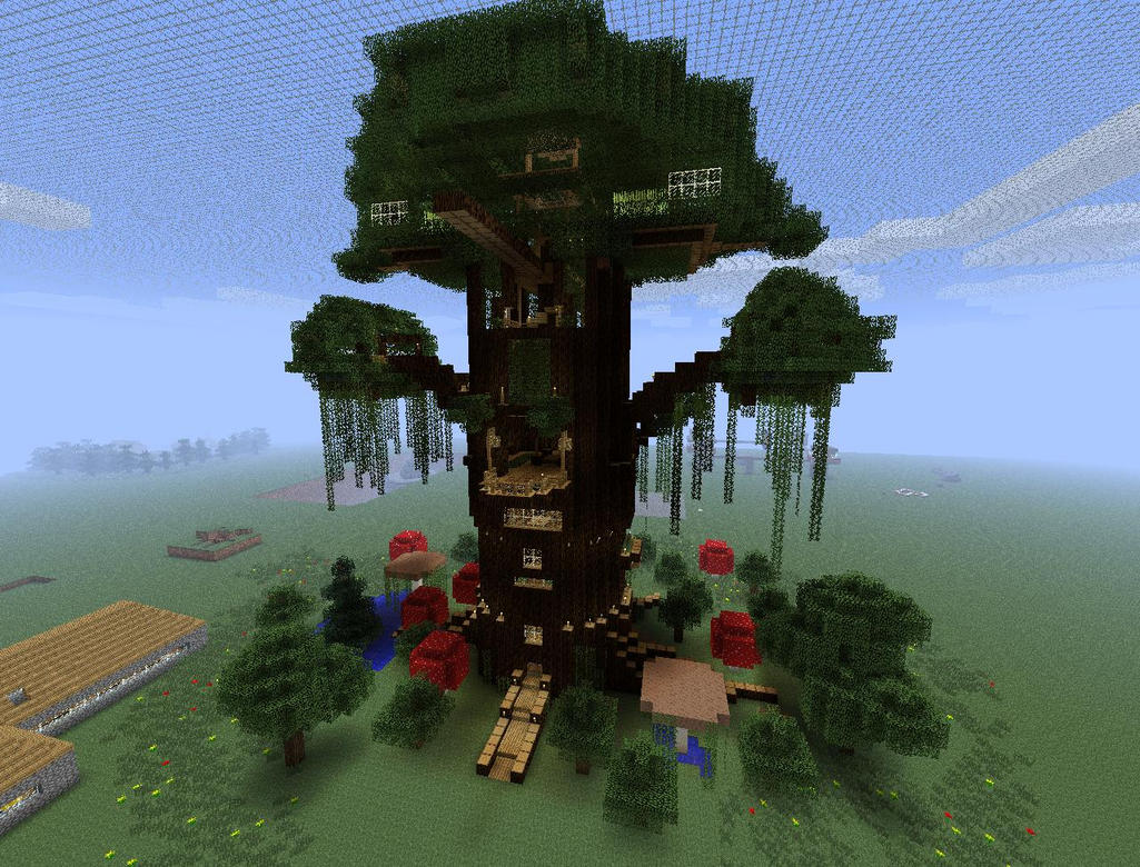 minecraft giant tree wip by slappyhand on deviantart