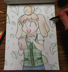 Chiyo-Chan as Isabelle by sergeant16bit