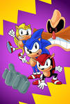 The Adventures of Sega Sonic the Hedgehog by sergeant16bit