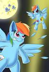 Rainbow Dash vs Metal Rainbow Dash