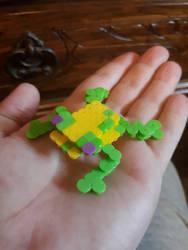 3D Perler bead Frogger by sergeant16bit