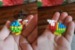 3D Perler bead Opa Opa by sergeant16bit