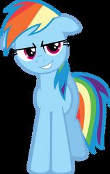 Rainbow Dash's Devious Smile