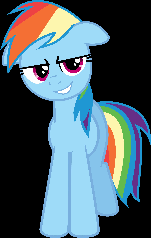 Rainbow Dash's Devious Smile by danspy1994
