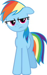 Rainbow Dash is unimpressed