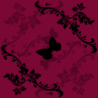 Magenta Butterfly Tile by excheesetorpedo