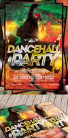 Dancehall party flyer