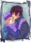 Jasper and Jun - winter pic :D