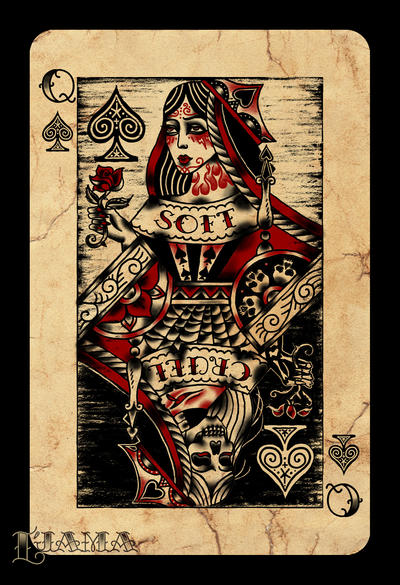 queen of spades by ljama on deviantart. Black Bedroom Furniture Sets. Home Design Ideas
