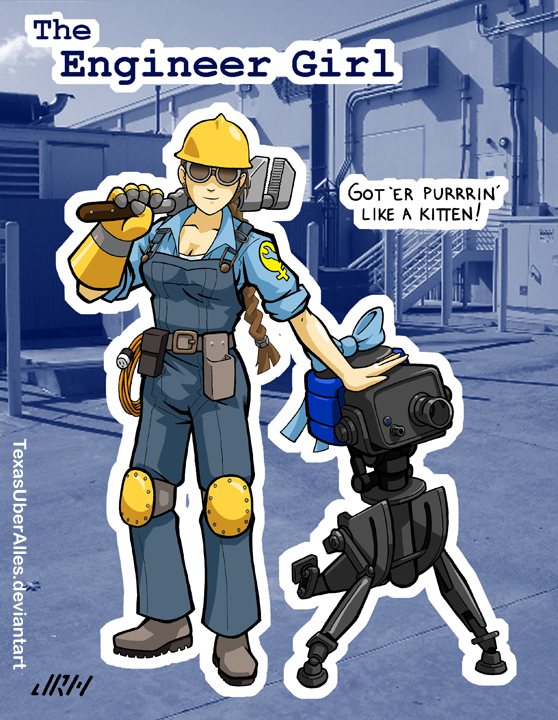 Girls Team Fortress Engineer Girl By Texasuberalles On Deviantart
