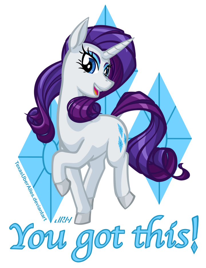 You Got This! Rarity by TexasUberAlles