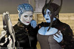 Benezia and Morinth by Metamorphicacosplay