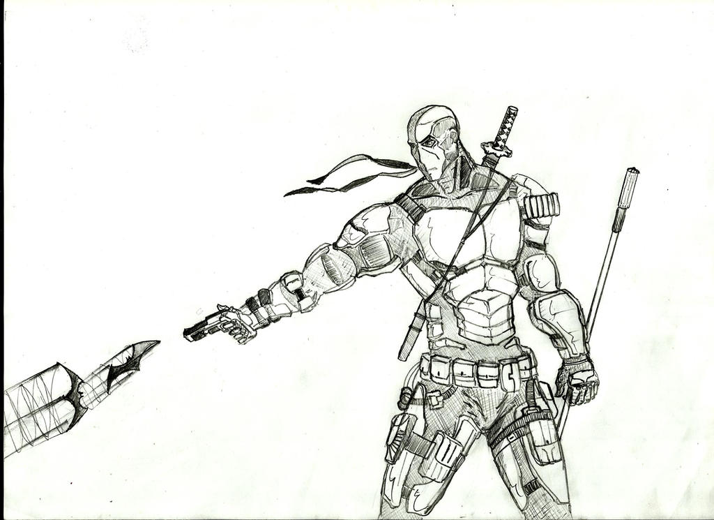 coloring pages of deathstroke costume - photo#7