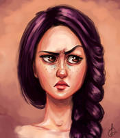 My OC expression studying by fanny000