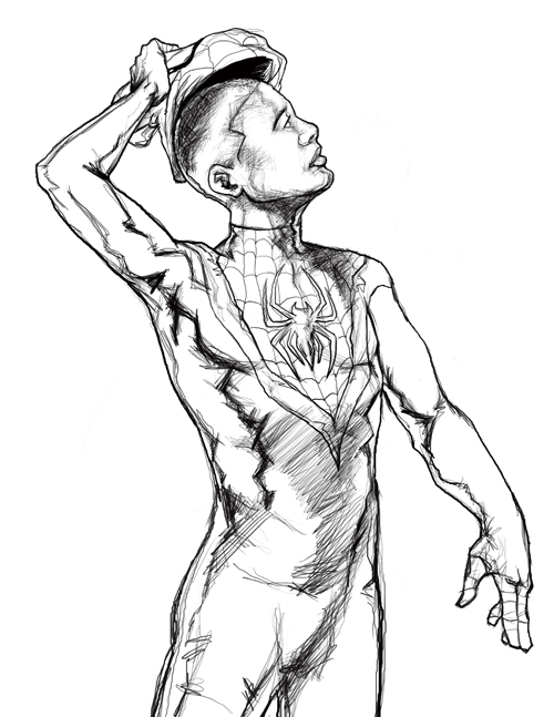 Miles Morales - Free Coloring Pages