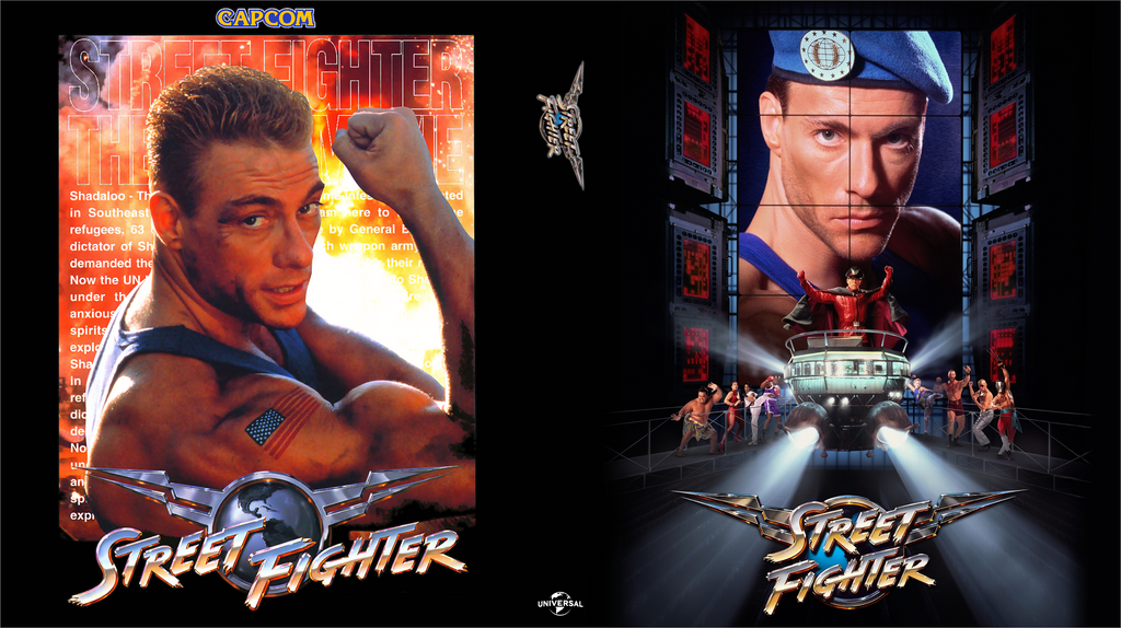 street fighter the movie custom bluray cover by shonasof
