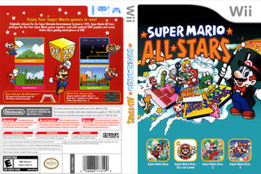Super Mario All Stars Alternative Cover Art by shonasof