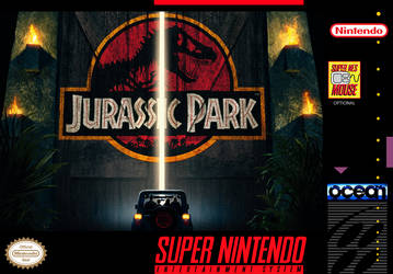 Jurassic Park - Custom SNES Box Art by shonasof