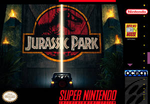 Jurassic Park - Custom SNES Box Art