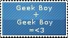 Gay Geek Love Stamp by Naked-toes